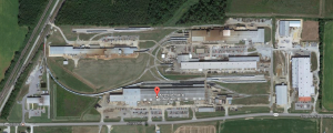 American Railcar Industries, 901 Jones Rd, Paragould, AR 72450. Note the tight radius curves.