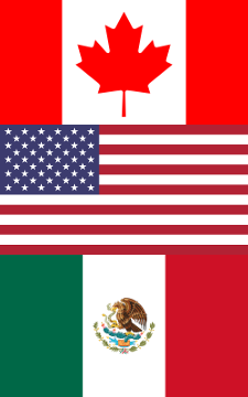 "3/8"" wide flags of Canada, United States, and Mexico at 600 dpi."