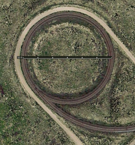 How tight is that tight radius loop? It has a radius of 150 feet (45.72 meters). Click image to see full-size in a new tab.