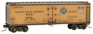 Example: Micro-Trains 047 51 145 / 993 01 715 Pacific Fruit Express 16-Car Weathered Reefer Set